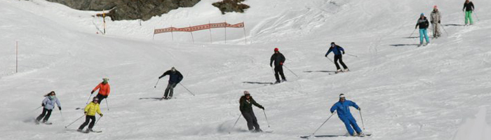 instructing ski lessons