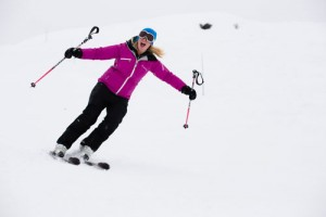 Verbier ski instructor Mhairi