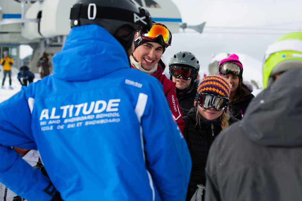 Ski instructor course verbier