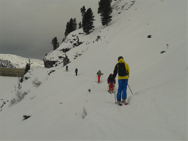 ISIA course backside mont fort