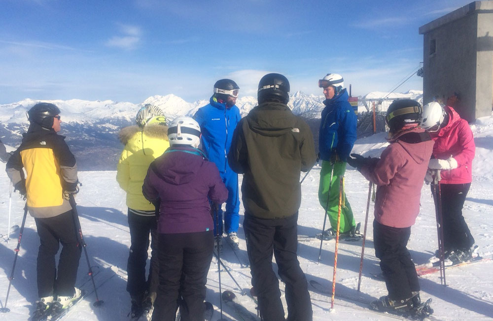 BASI Level 2 training Verbier