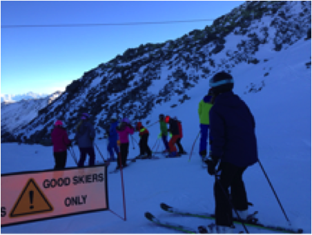 children group ski lessons