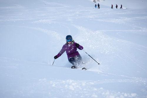 Verbier ski instructor training Kate