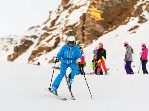 Ski instructor training agility verbier