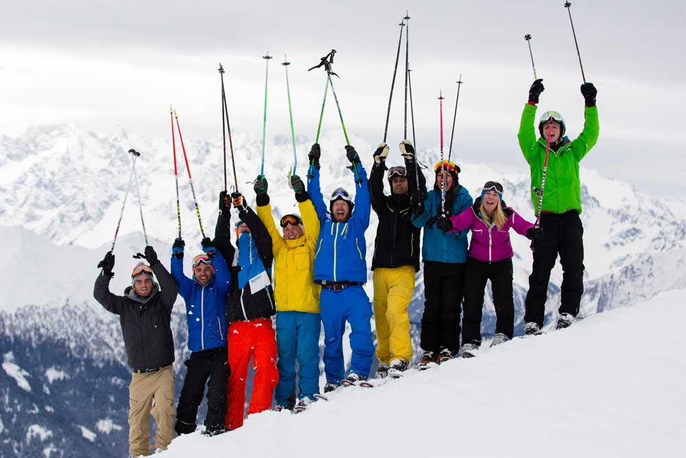 ski instructor friends