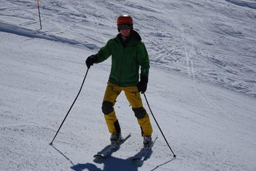Verbier ski instructor training Nikola