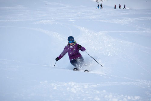Verbier ski instructor training Kate